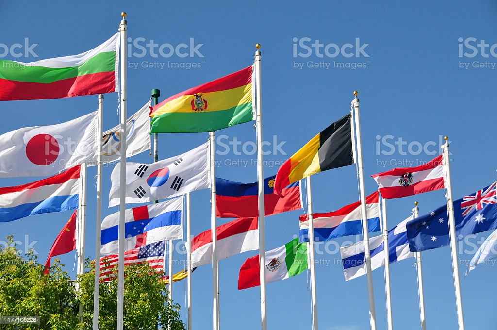 Flags of the world royalty-free stock photo
