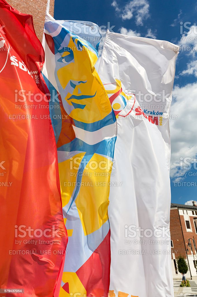 Flags of World Youth Day 2016 stock photo