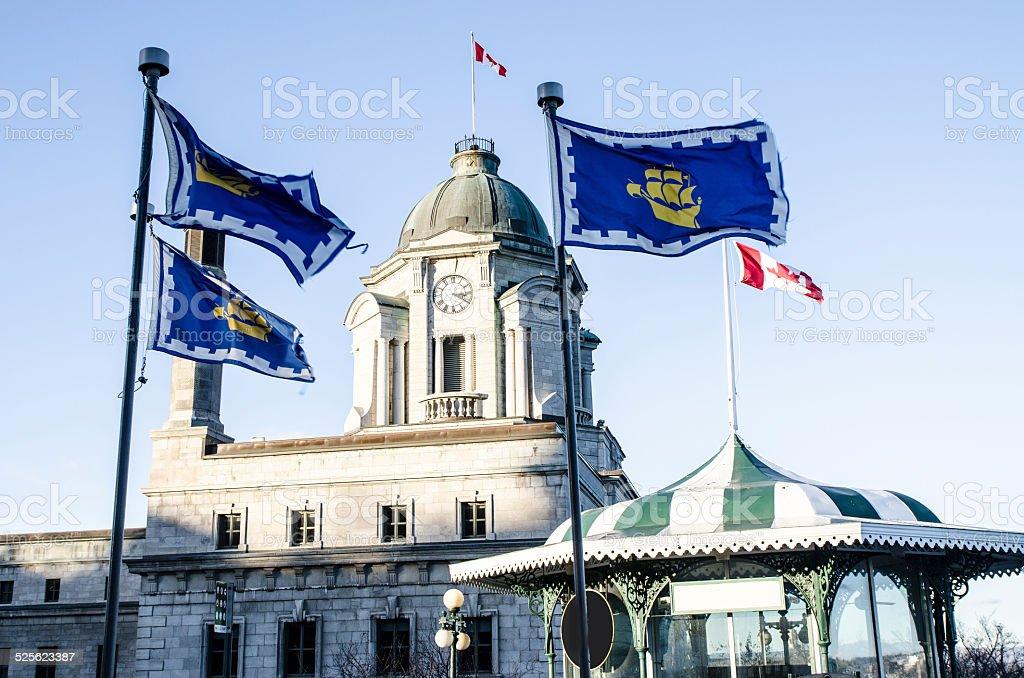 Flags over the Dufferin Promenade stock photo