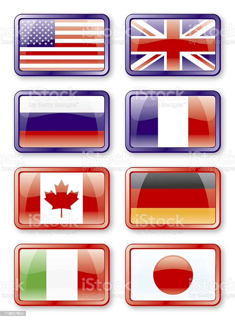 G8 flags stock photo