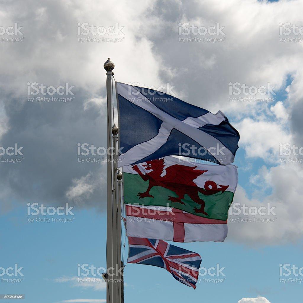 UK Flags stock photo