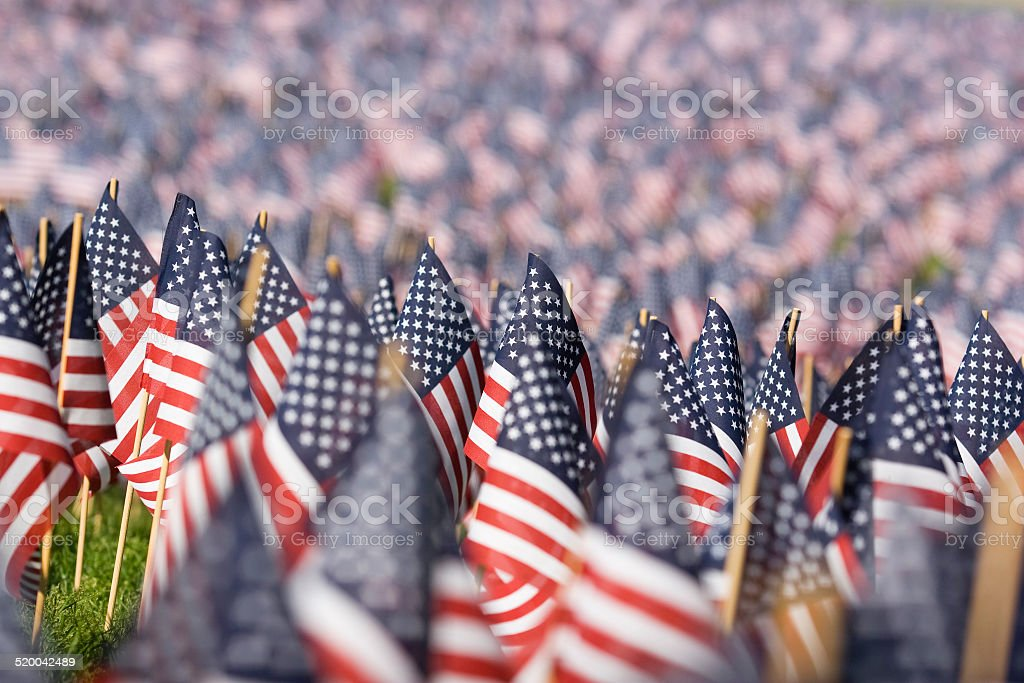 US Flags stock photo