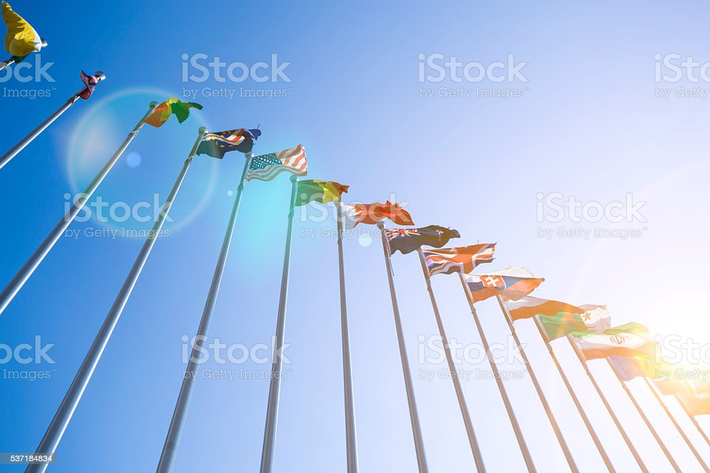 Flags stock photo