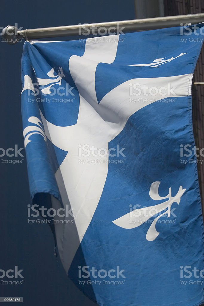 Flags, prov. Quebec royalty-free stock photo