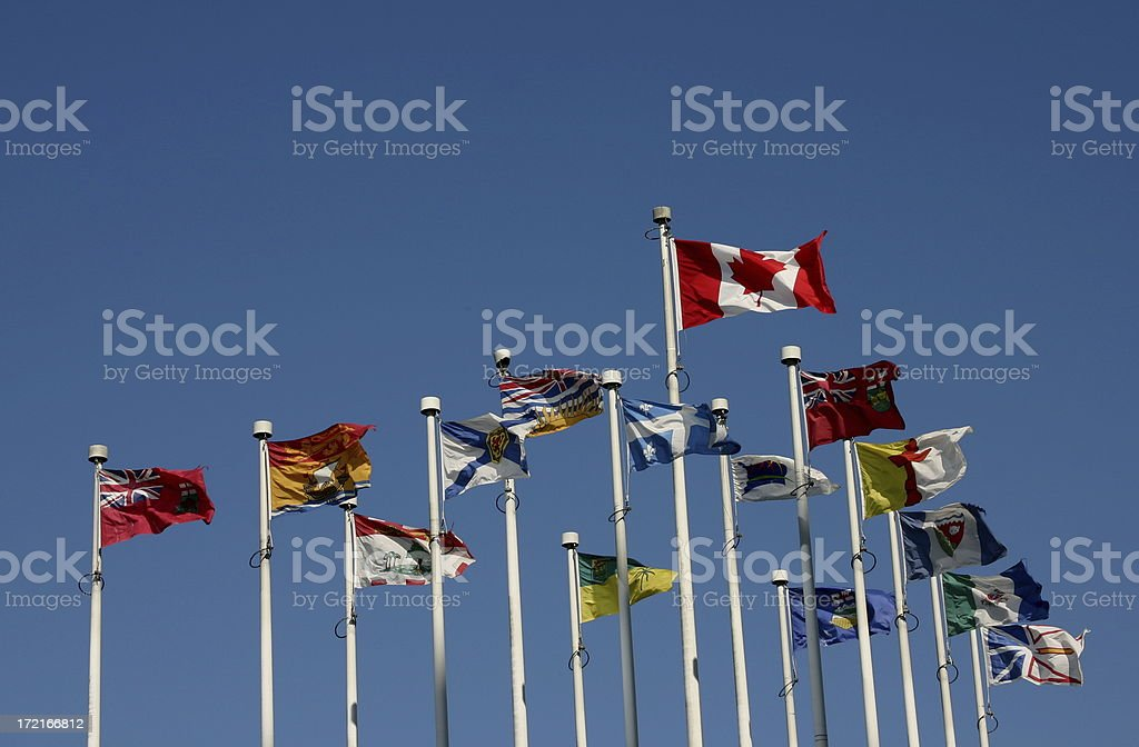 Flags: Provinces Of Canada royalty-free stock photo