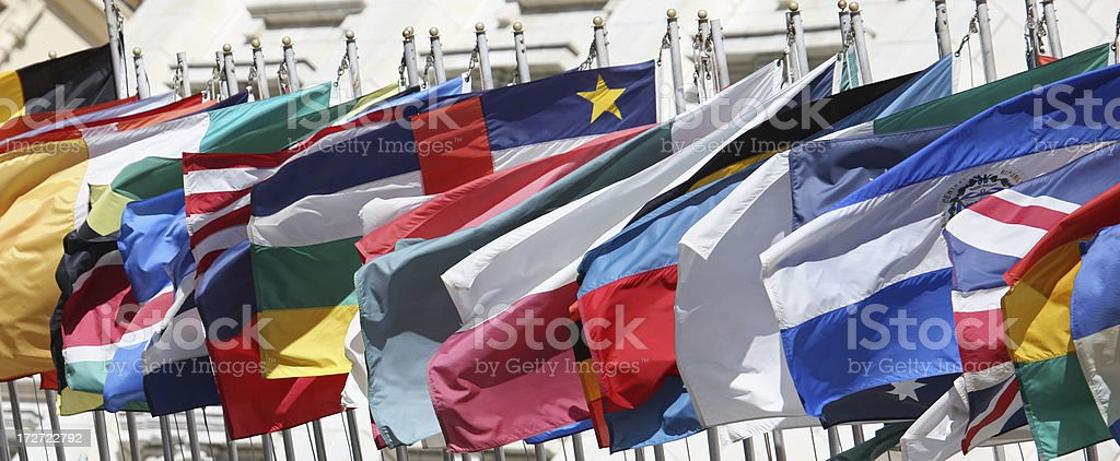 Flags Waving royalty-free stock photo