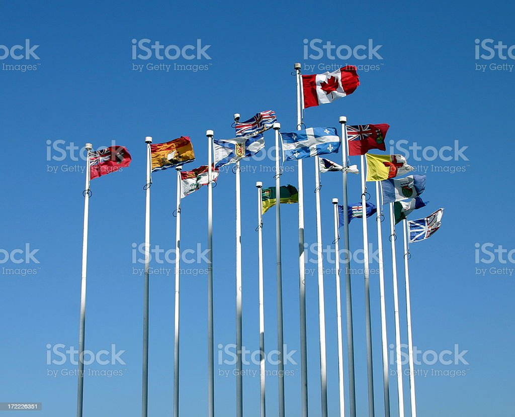 Flags_Canada_Provinces royalty-free stock photo
