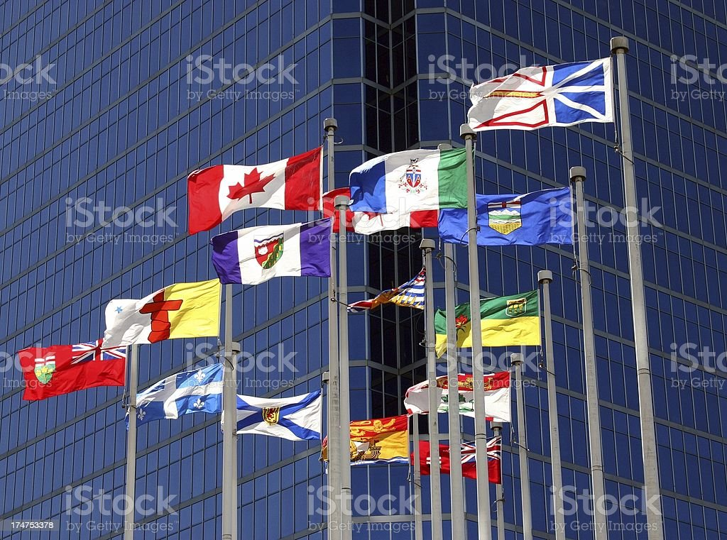 Flags_Canada_Provincial stock photo