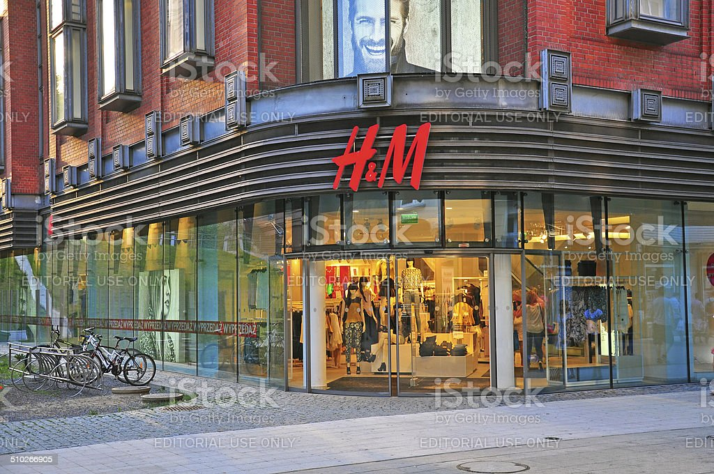 H&M flagship store in Poland stock photo