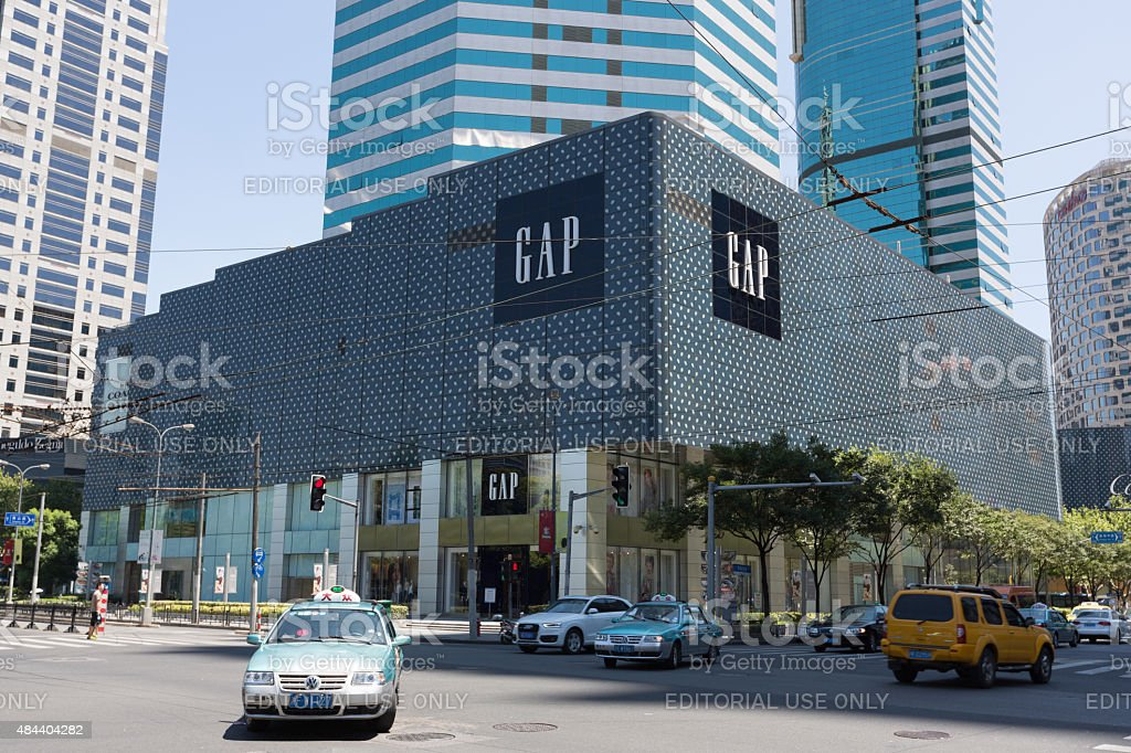 GAP Flagship Store in Shanghai, China stock photo