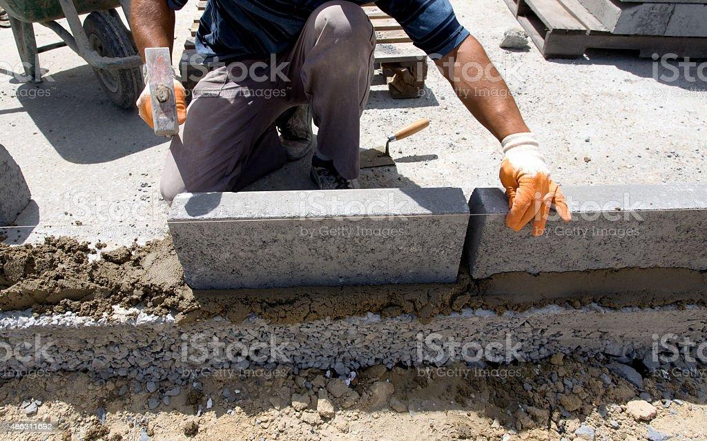 Flagstone Flooring stock photo