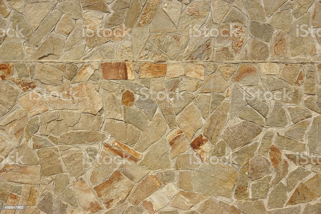 Flagstone Mosaic Tiled Texture Or Background stock photo