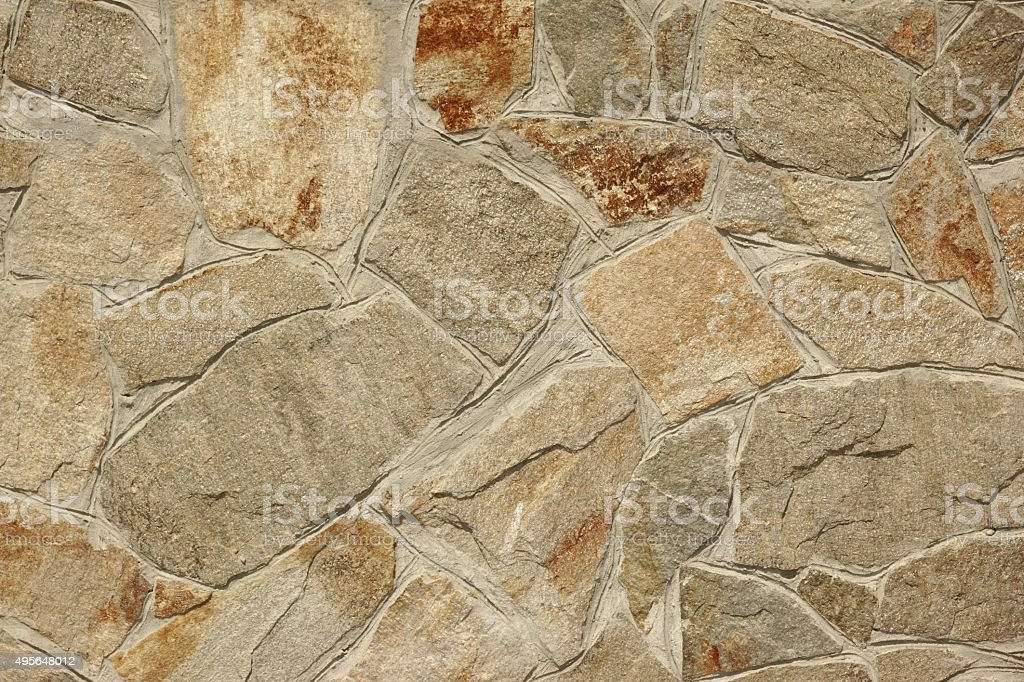 Flagstone Mosaic Tiled Wall Texture Or Background stock photo