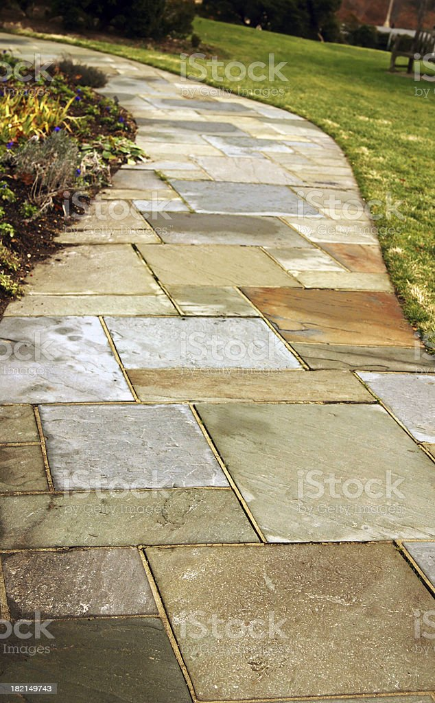 Flagstone Path royalty-free stock photo