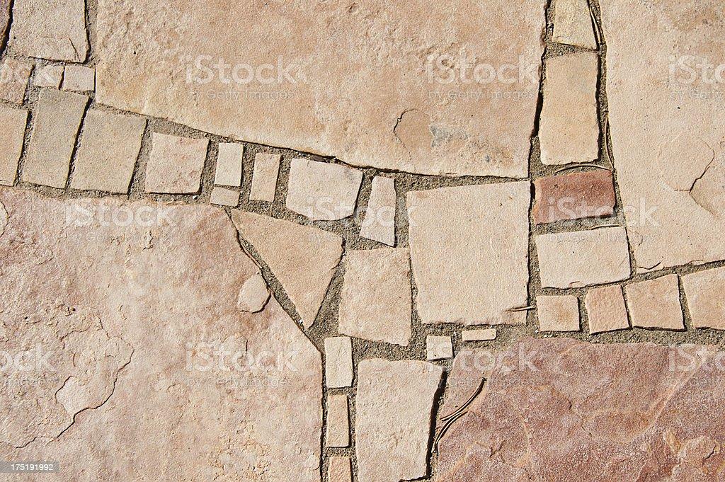 Flagstone Paving Stone Background stock photo