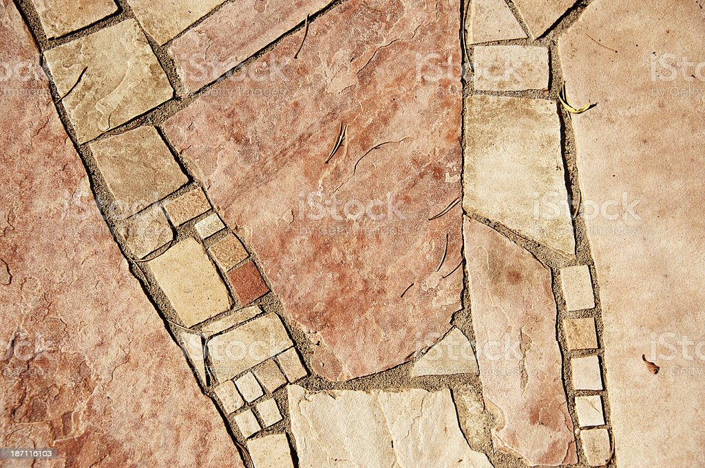 Flagstone Paving Stone Background royalty-free stock photo