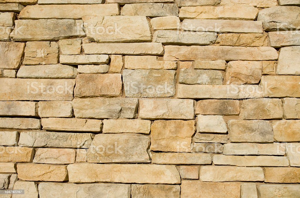 Flagstone Wall Background royalty-free stock photo
