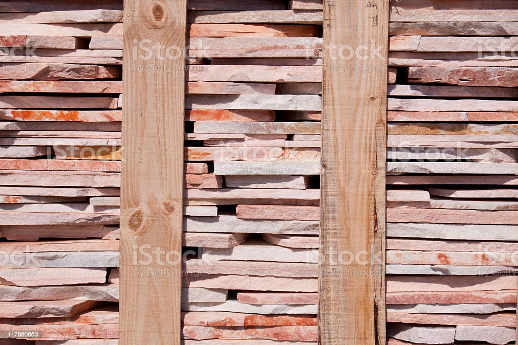 Flagstones in a pallet royalty-free stock photo