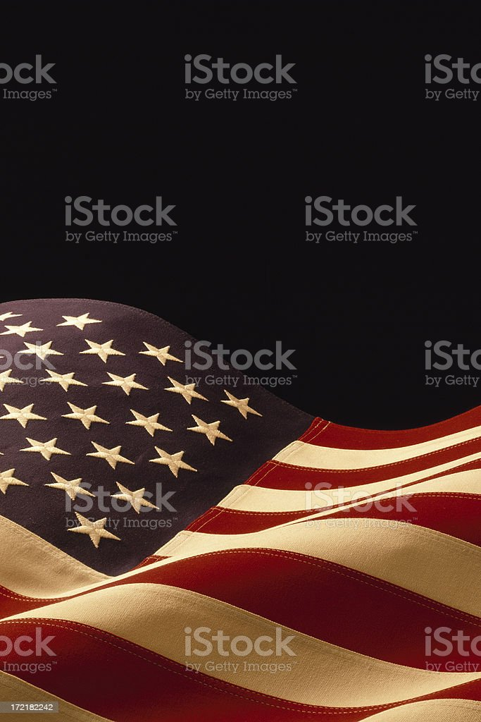 USA Flag,Vertical royalty-free stock photo