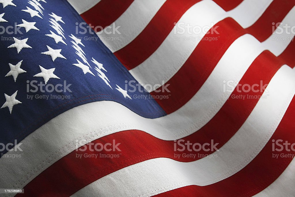 USA Flag,Waving stock photo