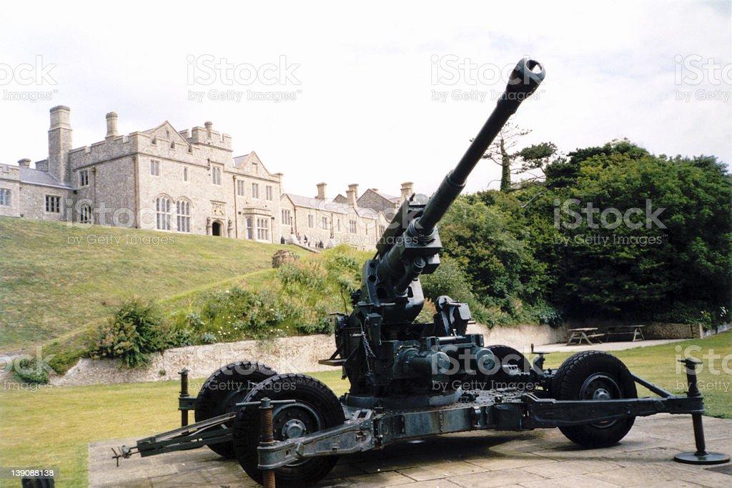 Flak at Dover Castle stock photo