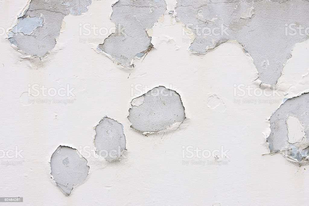 Flakey paint on a wall royalty-free stock photo