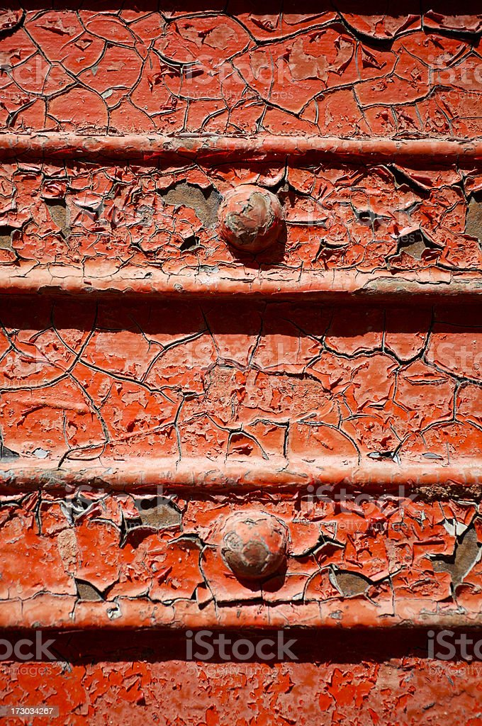 Flakey red paint royalty-free stock photo