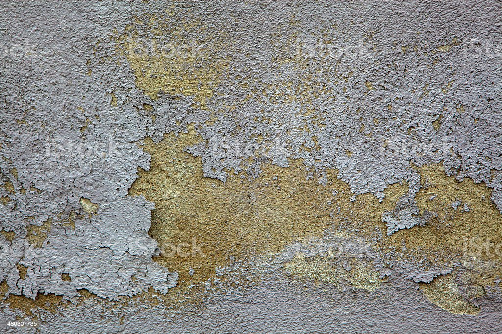 Flaking paint on the wall - texture royalty-free stock photo