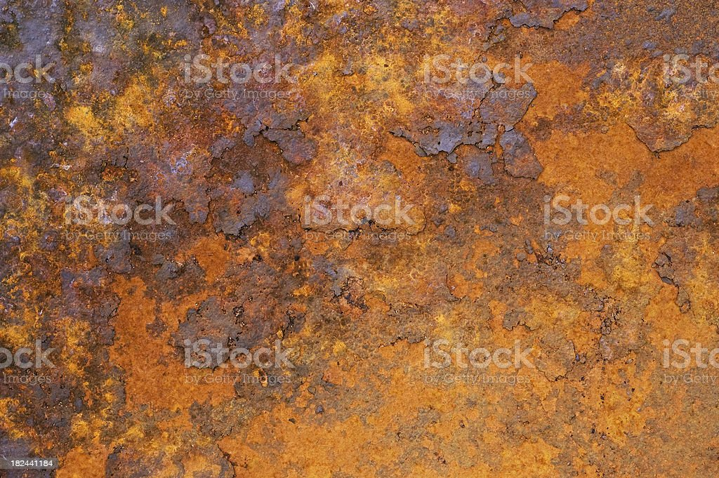 Flaking rust texture royalty-free stock photo