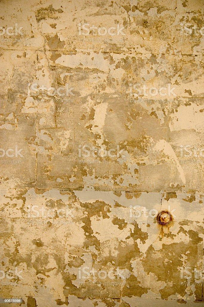 flaking wall royalty-free stock photo
