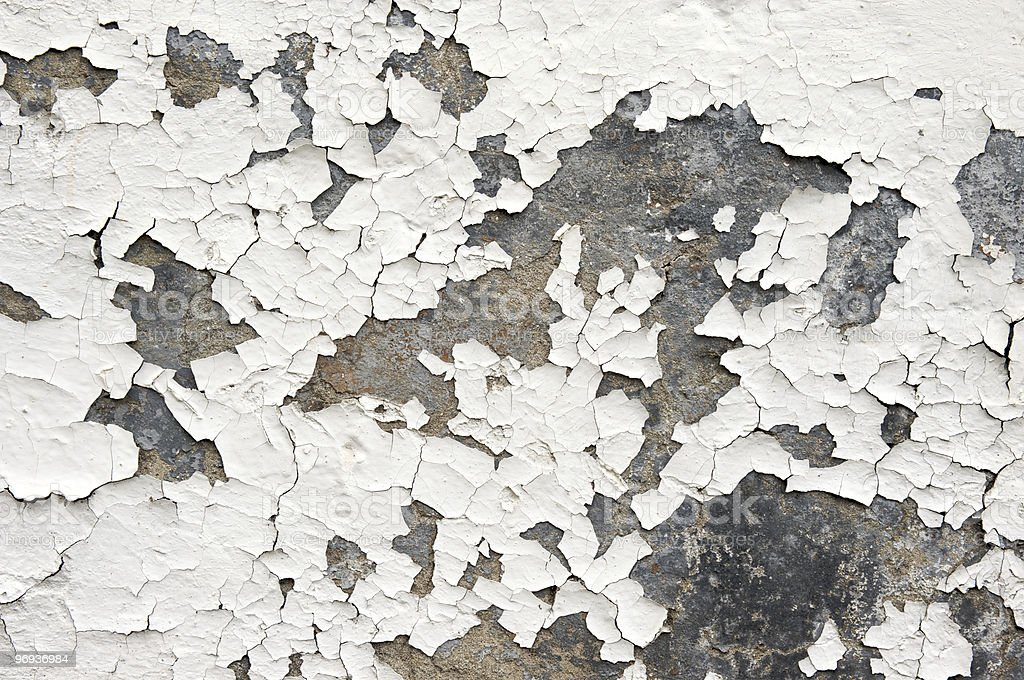 Flaking White Paint on Wall royalty-free stock photo