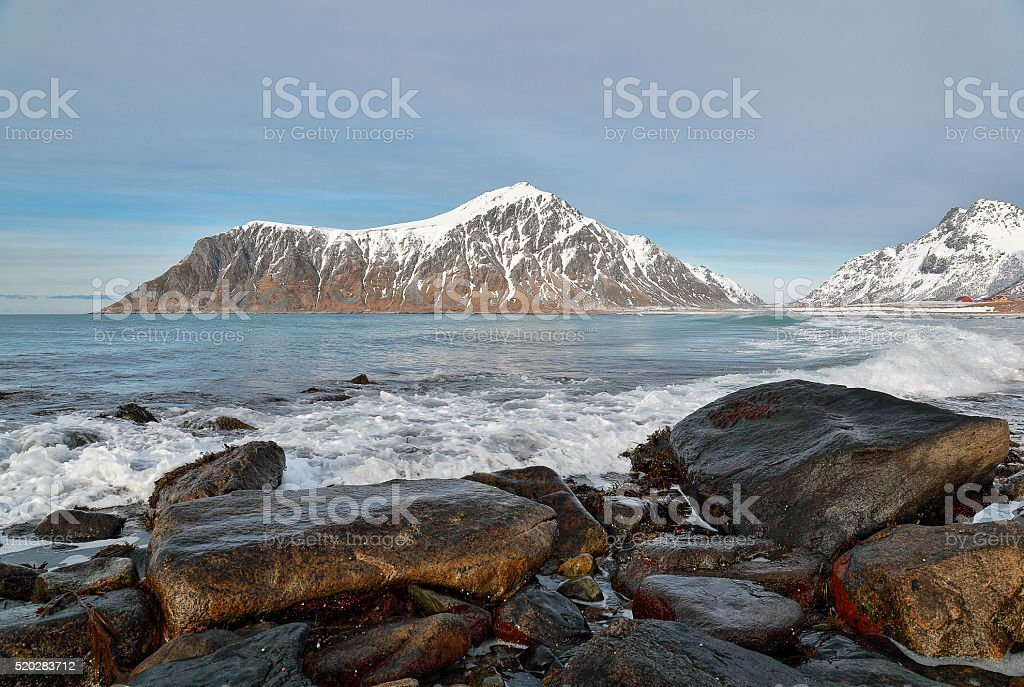 Flakstad - Lofoten Islands stock photo