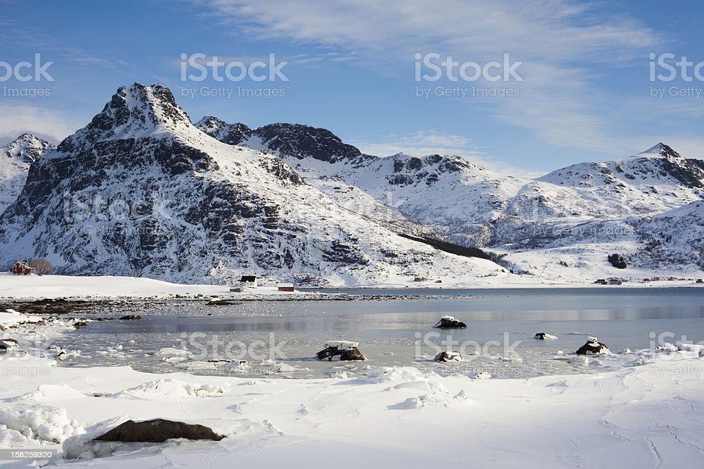 Flakstadoeya, Lofoten royalty-free stock photo