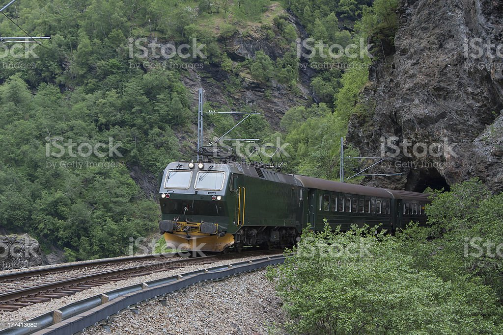 Flam Line or Flamsbana (Flam, Norway) royalty-free stock photo