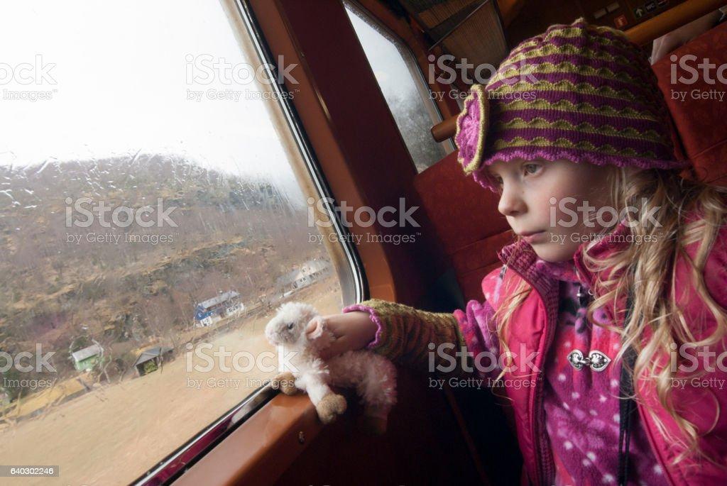 Flam train passenger stock photo