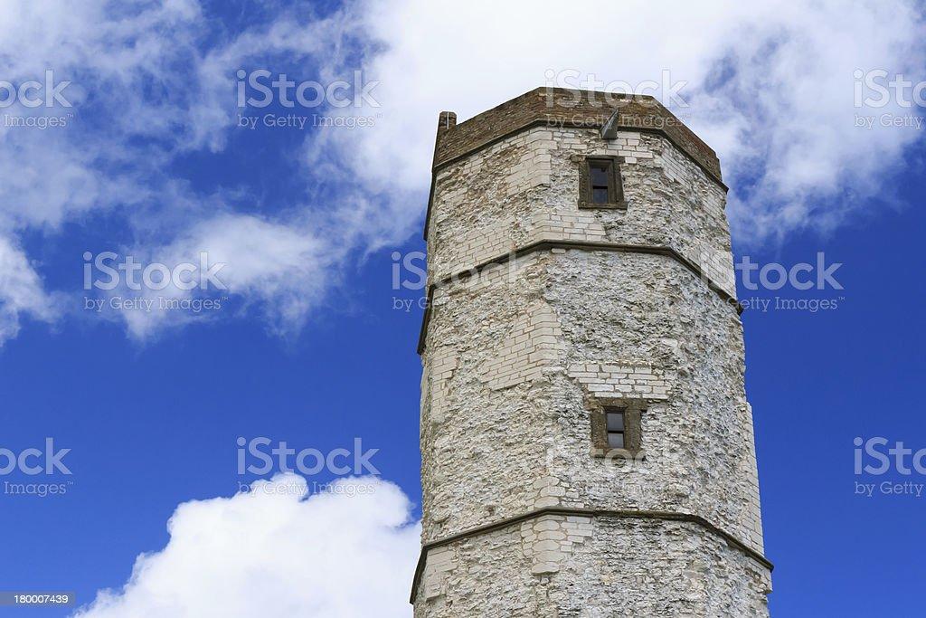 Flamborough Head Historic Lighthouse royalty-free stock photo