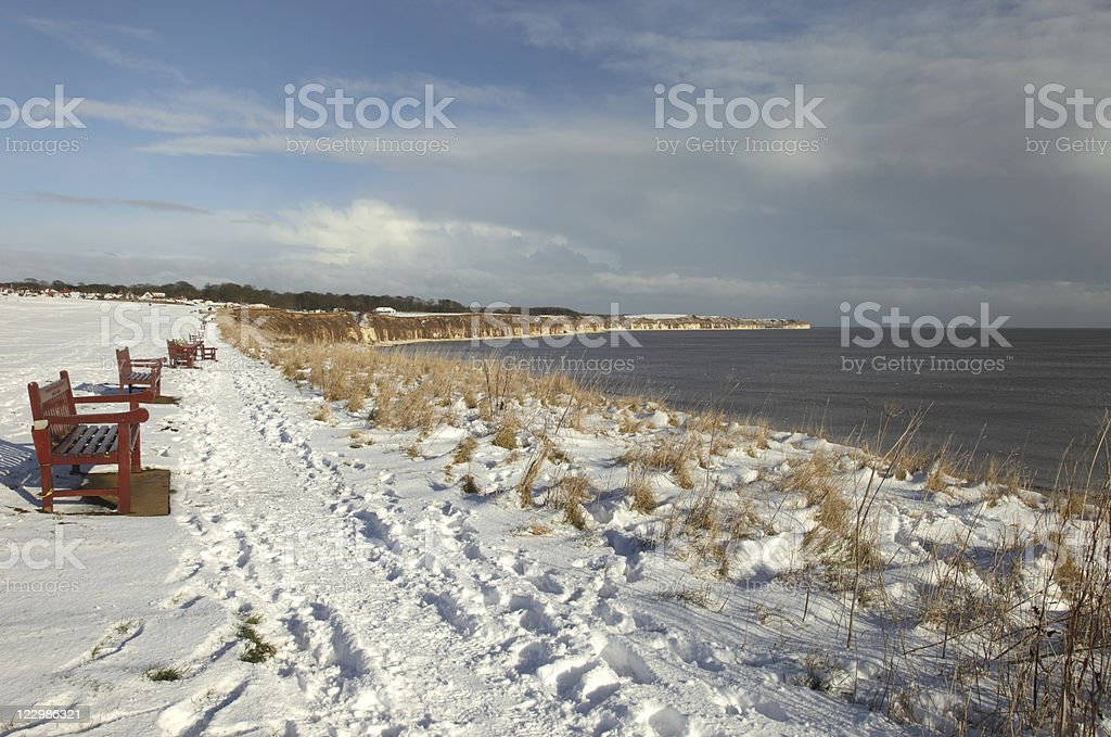Flamborough Head in Winter stock photo