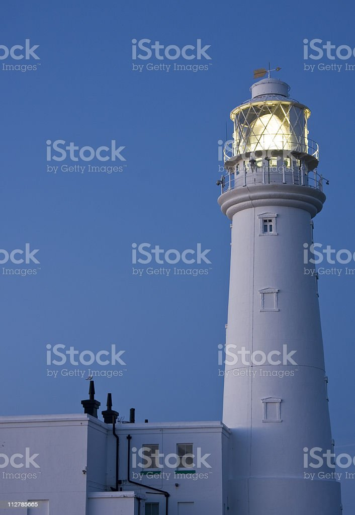 Flamborough Lighthouse at Dawn stock photo