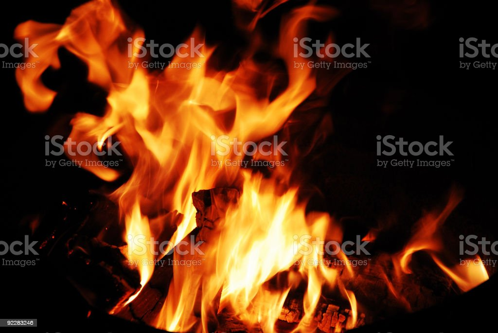 Flame at night royalty-free stock photo