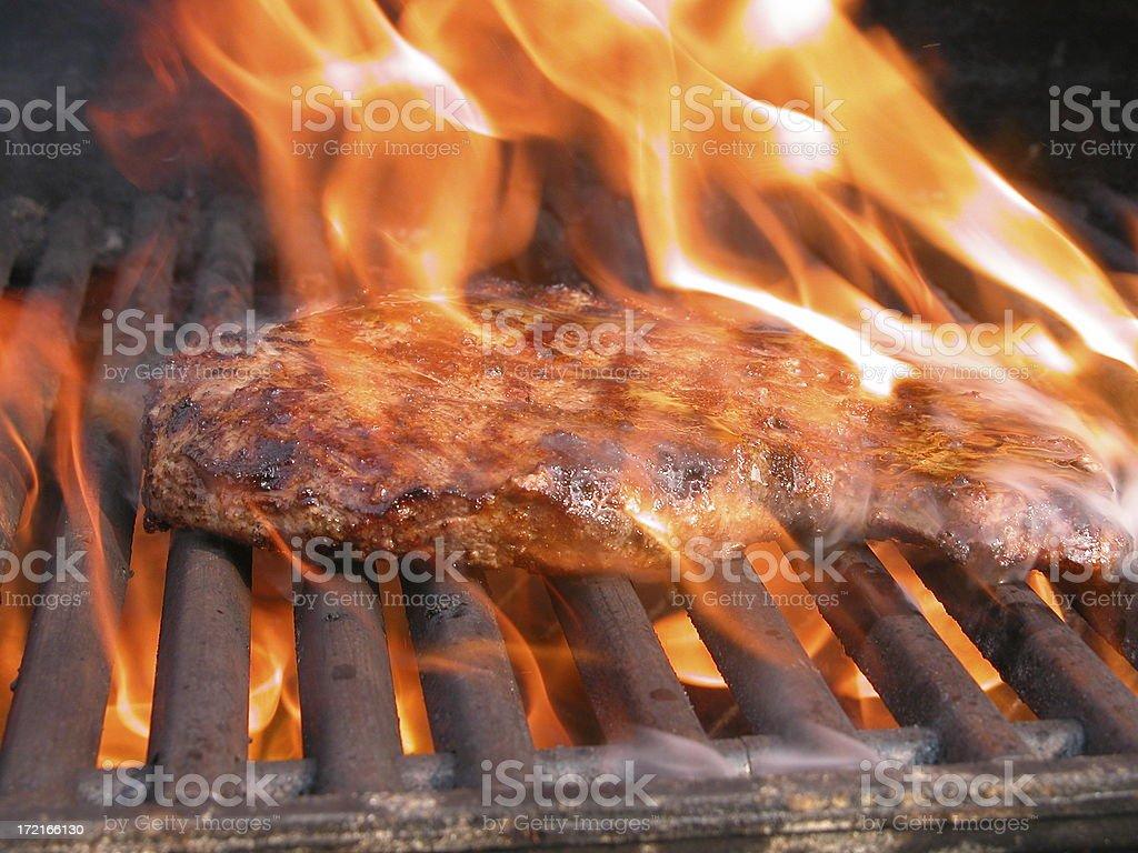 Flame broiled flank royalty-free stock photo