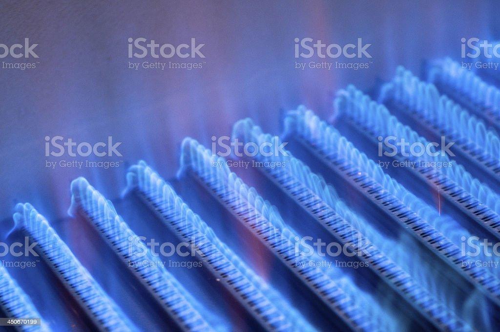 Flame burners stock photo