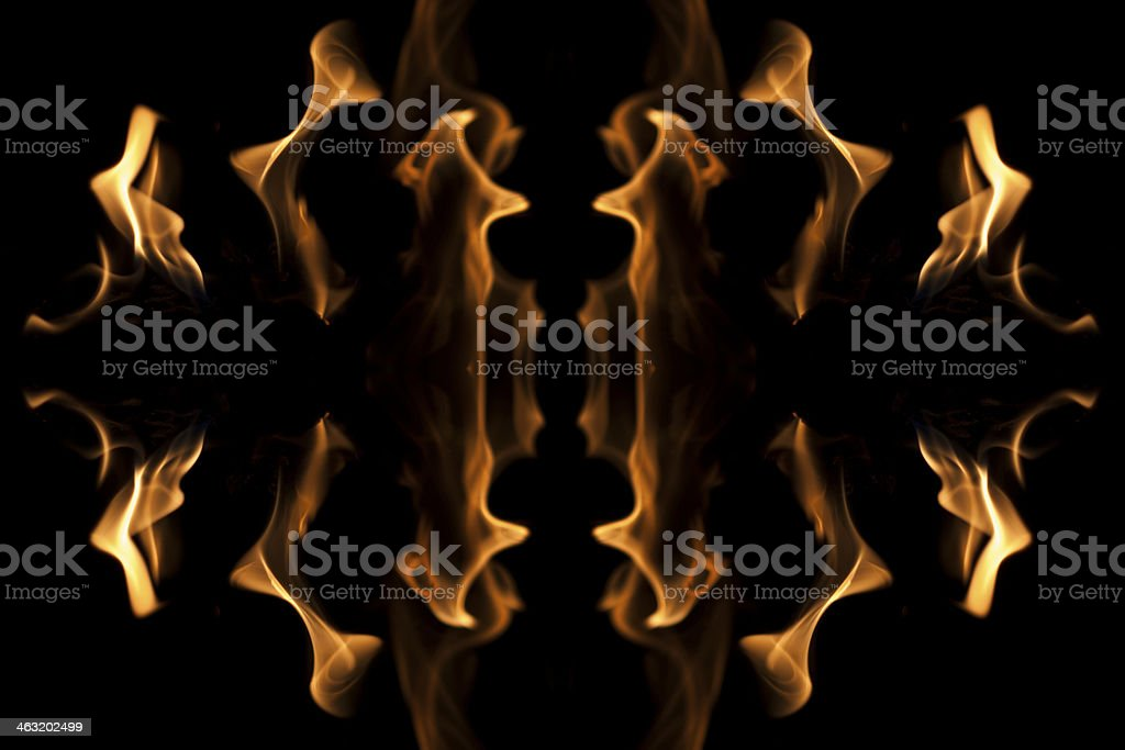 Flame Close Up royalty-free stock photo
