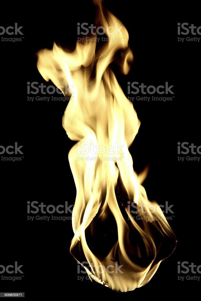 Flame Close Up stock photo