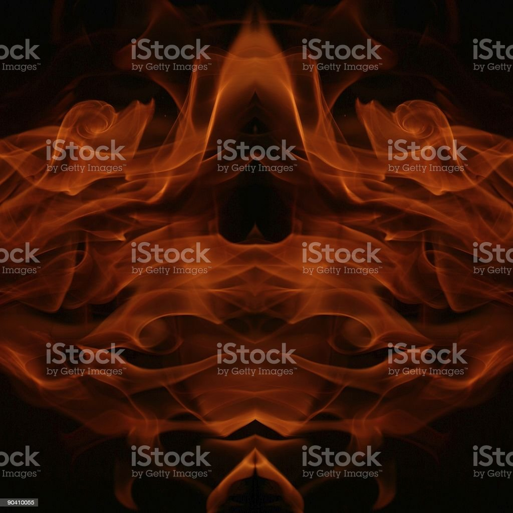 Flame figures royalty-free stock photo