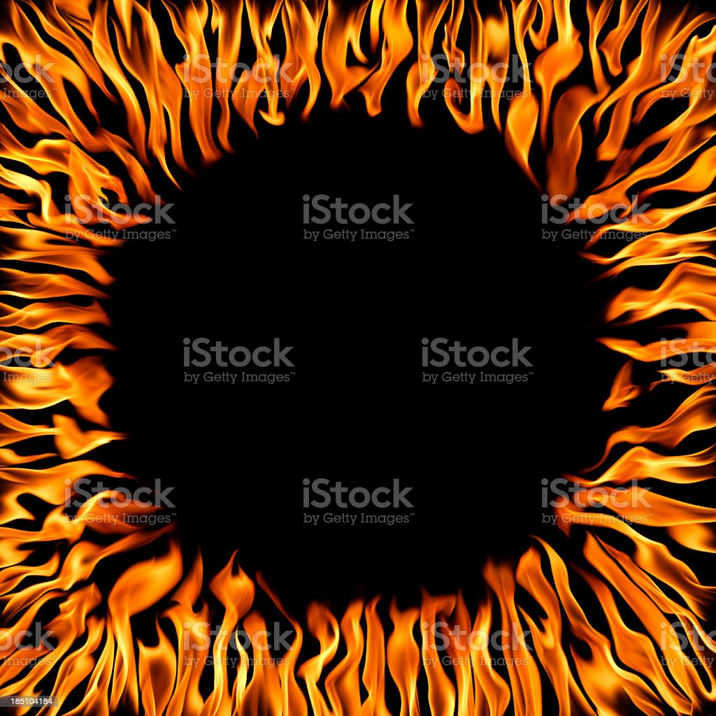 flame frame royalty-free stock photo