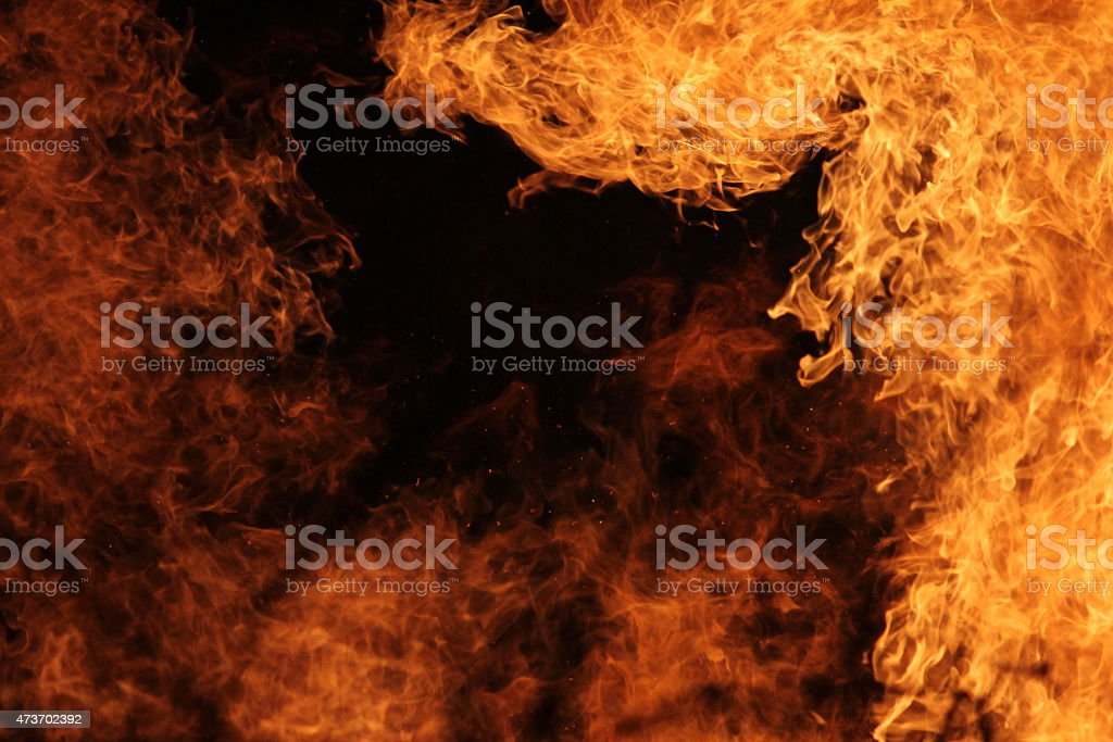 Flame frame stock photo