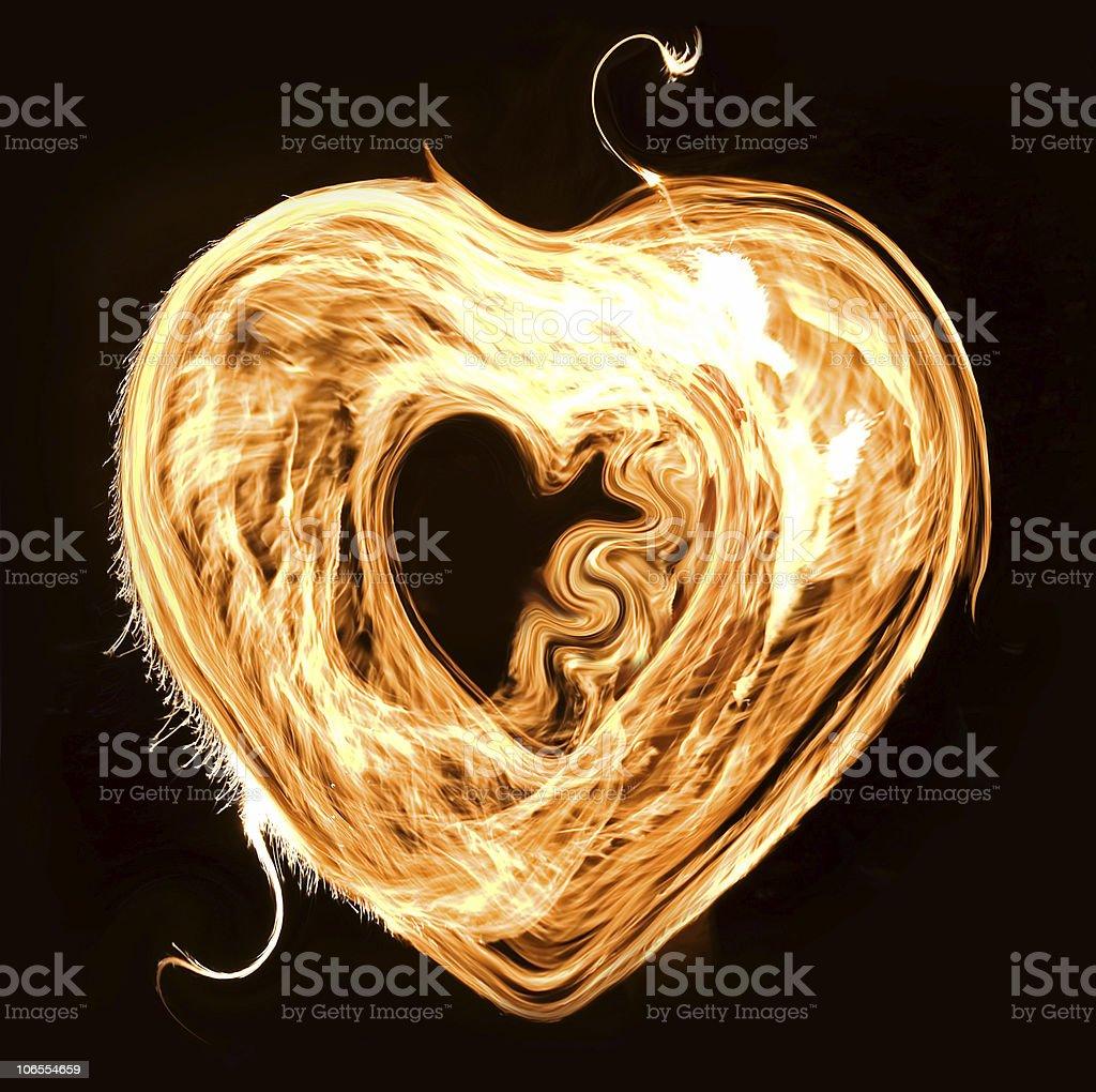 Flame heart stock photo