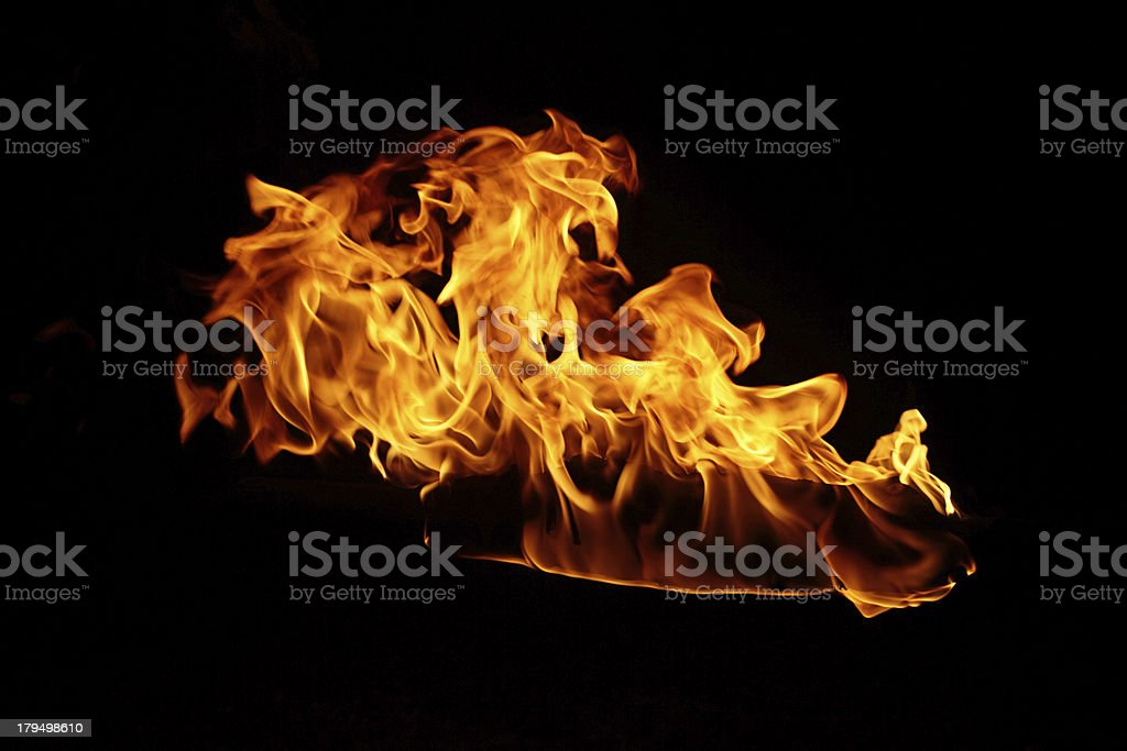 Flame in the night royalty-free stock photo