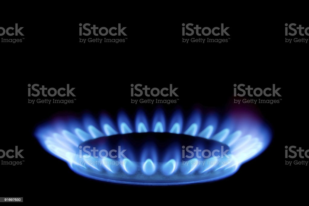Flame of gas stock photo