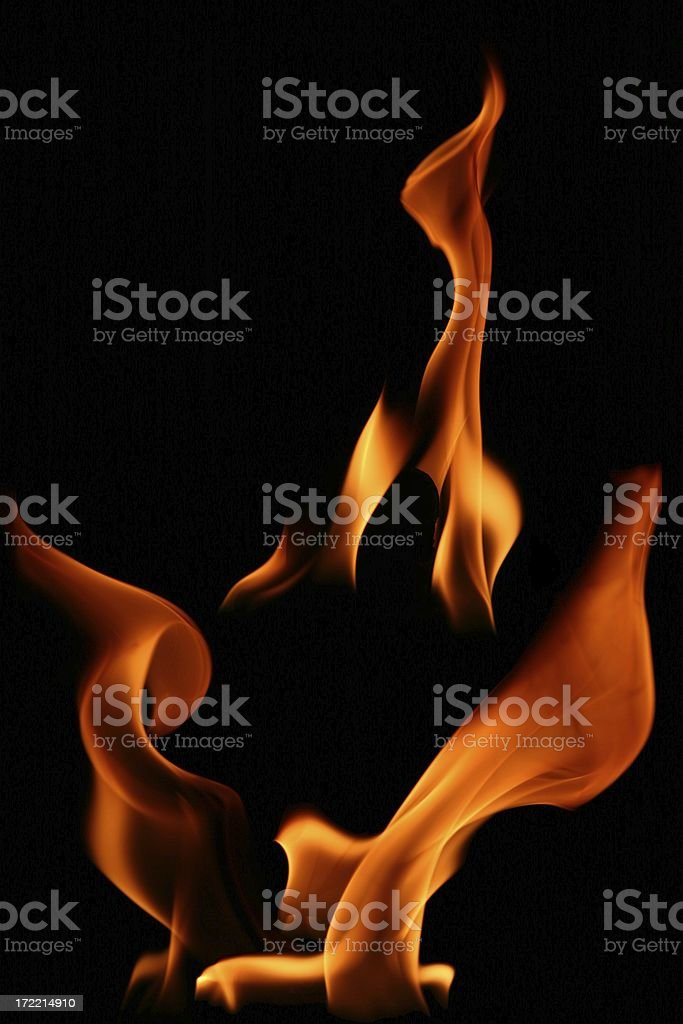 Flame Package stock photo